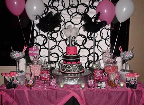 sweet 16 table ideas photograph sweet 16 dess
