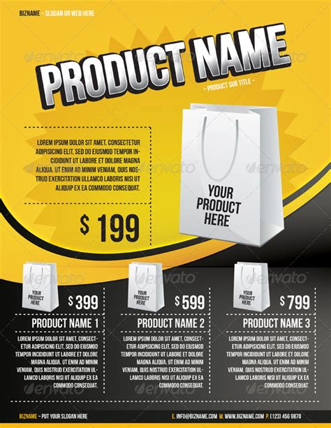 product advertisement template product flyer templates by artnook graphicriver
