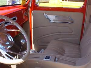 1940 ford truck custom leather interior interiors by