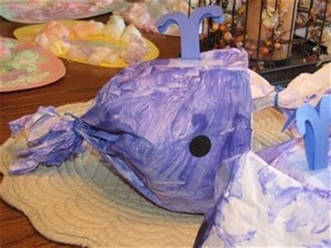 Paper Bag Whale Craft - paper bag whale