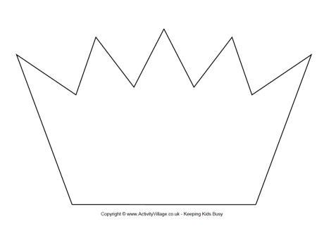 printable children s crown template crown template printable 1