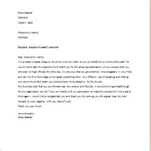thank you letter after presentation best free home