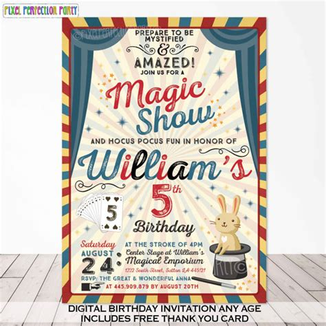 free printable birthday invitations magic theme magic party invitation magic birthday invitation magician