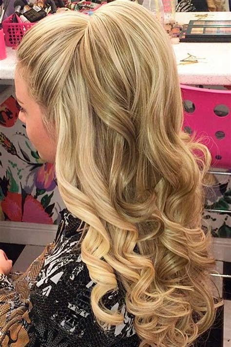 Elegant Hairstyles Bump | 18 nice holiday half up hairstyles for long hair prom