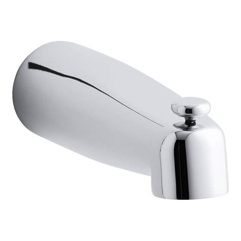 bathtub spouts kohler coralais 8 in diverter bath spout in polished