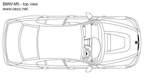car plan view bmw m5 sedan car 5 series top view block in vehicles