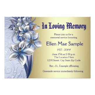 memorial invitations announcements zazzle