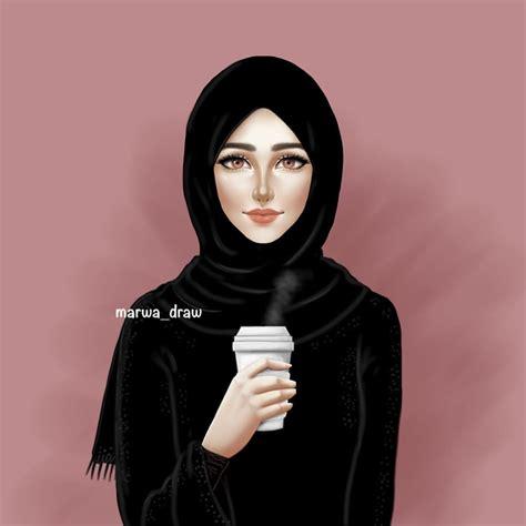 pin  ziada alfatya  wallpaper hijab drawing hijab