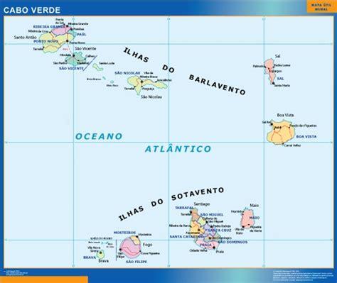 mapa cabo verde mapa cabo verde mapas posters mundo y espa 241 a