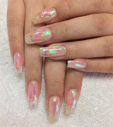 imagenes de uñas acrilicas transparentes u 241 as de cristal brillan como las zapatillas de cenicienta