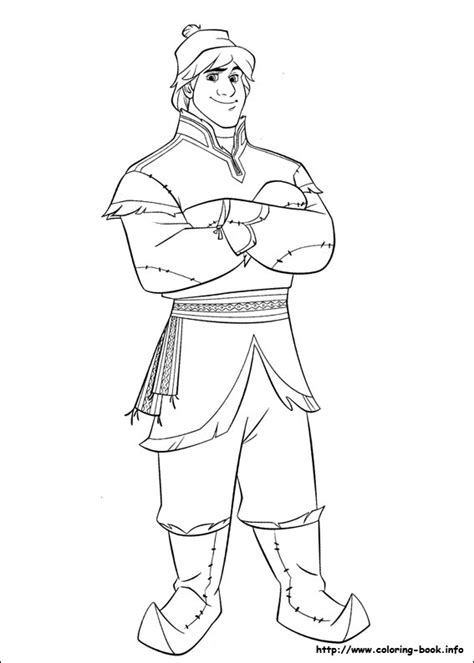 Frozen Coloring Pages Kristoff | free frozen printable coloring activity pages plus free