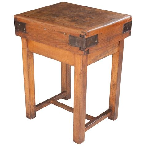 butcher block table 19th century butcher block table at 1stdibs