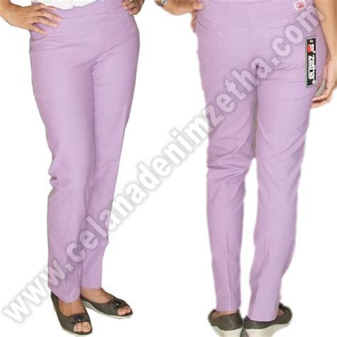 Kecubung Ungu Muda Kode 8599 celana zetha denim warna ungu muda celana denim zetha
