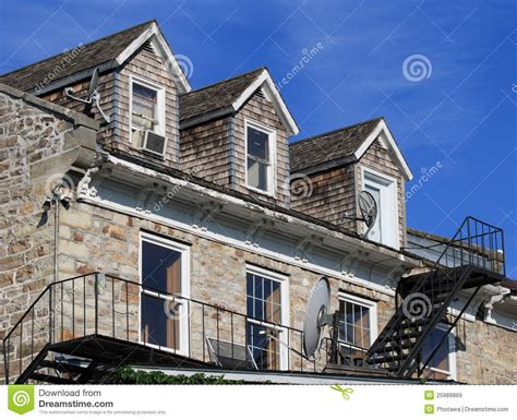 Building A Dormer Window Building With Dormer Windows Editorial Stock Image