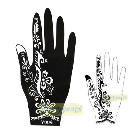 henna tattoo vorlagen ausdrucken aliexpress com buy 1pc professional big mehndi diamond