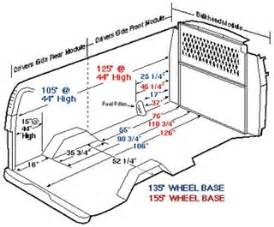 Chevrolet Cargo Dimensions Detailed Measurements For Interior Dimensions Chevy
