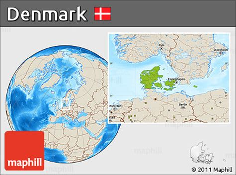 physical map of denmark free physical location map of denmark shaded relief outside