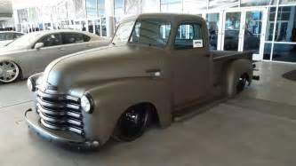 chevy chevrolet advanced design truck slammed solid wheels satin paint gun metal gray