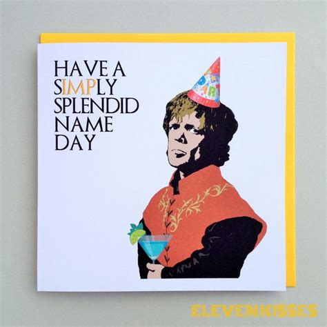 Thrones Birthday Card Game Of Thrones Tyrion The Imp Lannister Birthday Card