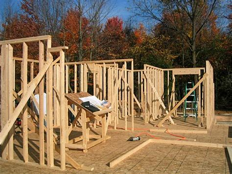 steps to building a house concrete slabs framing the house