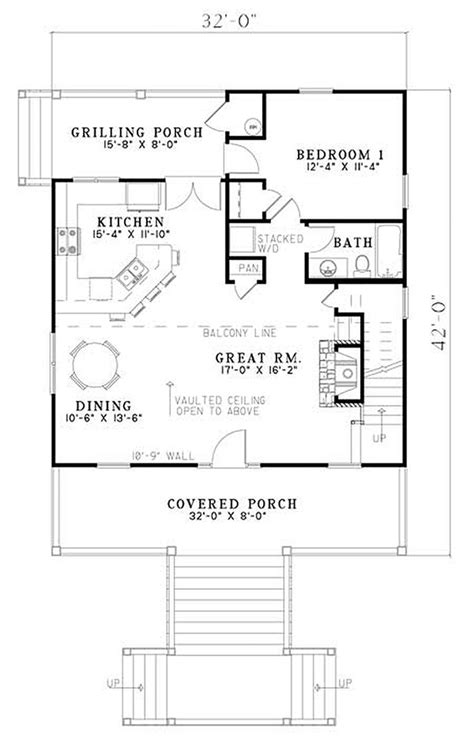 open cabin floor plans cabin style house plan 2 beds 2 baths 1400 sq ft plan