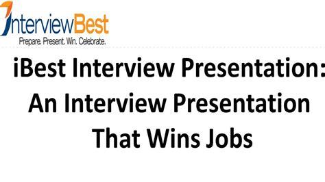 an interview presentation that lands a job youtube