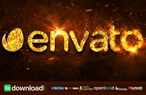 fire gold logo free after effects project videohive