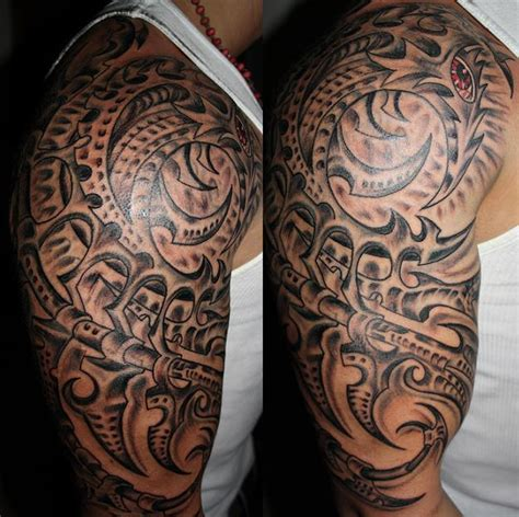 tattoo biomechanical tribal biomechanical photos picture photos and