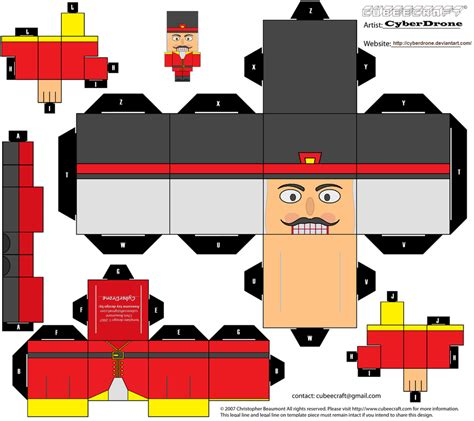 nutcracker template cubee nutcracker 2 by cyberdrone on deviantart