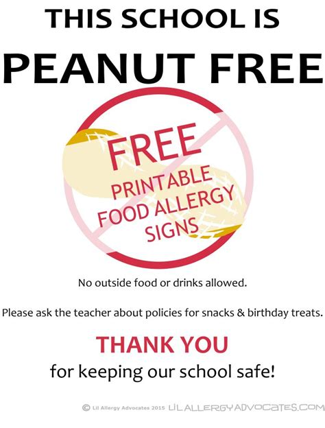 Posters Printable 12 Best Images About Food Allergy Printables On