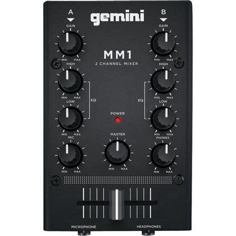 Gemini 2 Channel Analog Mini DJ Mixer MM1   The Home Depot