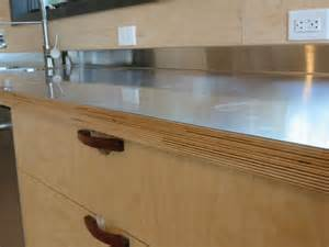 Inexpensive Kitchen Tables by Stainless Steel Laminated To Baltic Birch Woodweb S
