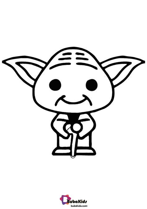 Baby Yoda Coloring Page | Cartoon coloring pages, Coloring