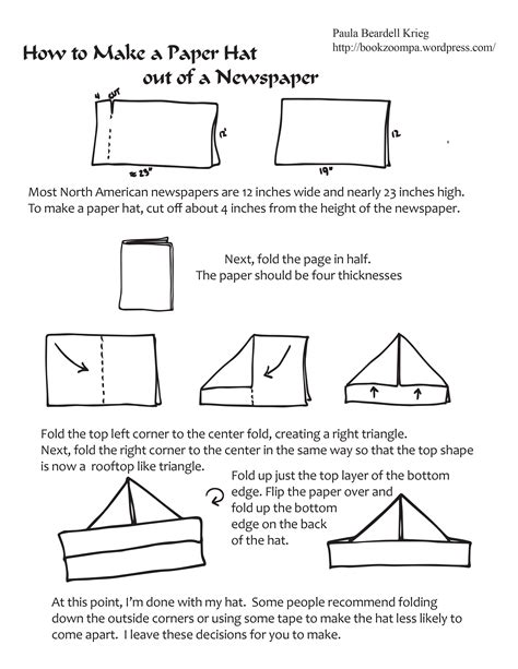 How To Fold A Sailor Hat Out Of Paper - the paper hat meets the shrinking newspaper playful