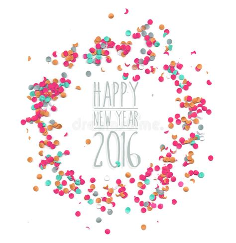 free new year card template 2016 happy new year 2016 confetti simple template stock