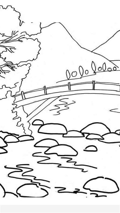scenery coloring pages timykids