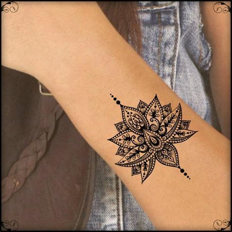 tattoo mandala realistic temporary tattoo mandala lotus fake tattoos realistic thin