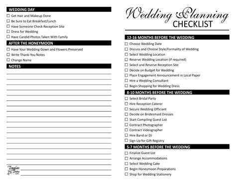 printable detailed wedding planning checklist wedding planning checklist