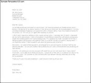 Cover Letter For A Nursing Assistant by Sle Nursing Assistant Cover Letter Template Sle Templates