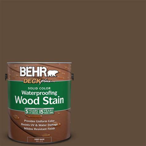 behr solid color waterproofing wood stain behr deckplus 1 gal sc 141 tugboat solid color