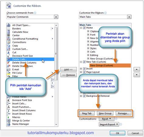 cara membuat menu dropdown di excel 2010 cara memulai microsoft excel 2010 tutorial ilmu komputerku
