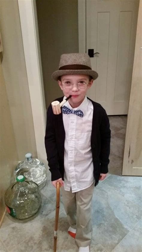 day  school costume dress  grandpa school
