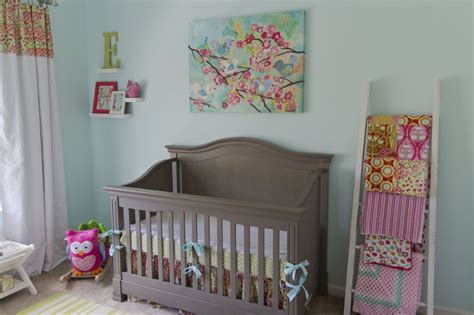 pink and green baby room baby p s cheerful aqua pink and green nursery project