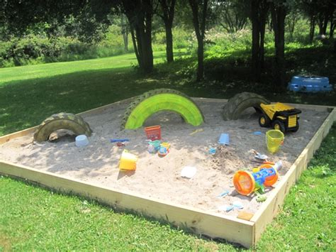 Sand In Backyard by Baby Pool