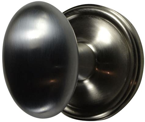 Brushed Nickel Interior Door Knobs Solid Brass Egg Door Knob Set Plate Brushed Nickel Finish