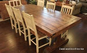 Farmhouse Dining Table For Sale Handcrafted Farmhouse Dining Table Solid Wood 7 Ft