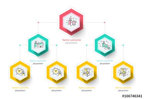 layout design hierarchy colorful company hierarchy organogram infographic layout 1