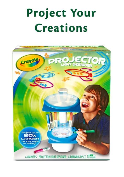 show off their cool drawing with crayola projector light