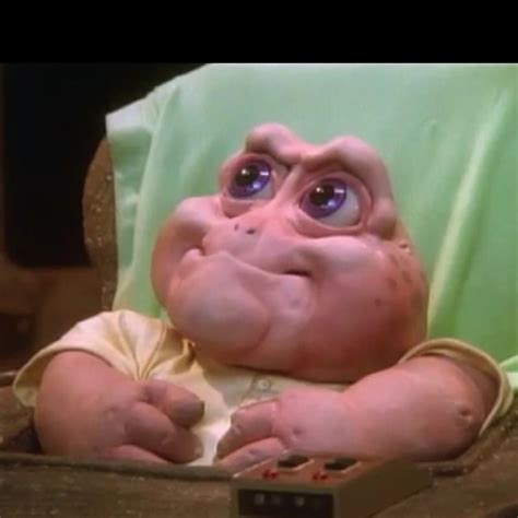 Baby Sinclair Meme - baby sinclair so ugly cute a face only a mother