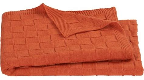 orange sofa throws knit burnt orange throw modern throws by cb2
